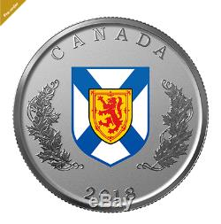 0.9999 Pure Silver 14-Coin Set Heraldic Emblems of Canada -Mintage 4,000 (2018)