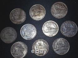 10 1930 Silver Greek 20 Drachma / Drachmai Poseidon World Coins JACKPOT