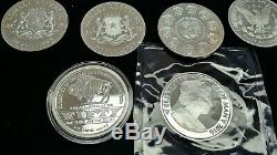 10 oz. 999 Silver Rounds Assorted World Bullion Collection Mixed Lot Coins