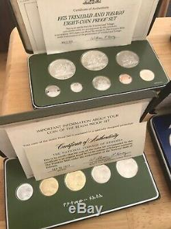 15 silver Proof World Coin Sets, All Sealed Except 1