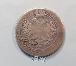 1621 Switzerland Thaler Silver World Coin Swiss Cantons Taler Saint Gallen Bear