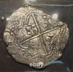 1622 ATOCHA SHIPWRECK 8 Reales Silver Coin Grade 1 Assayer Q Philip III