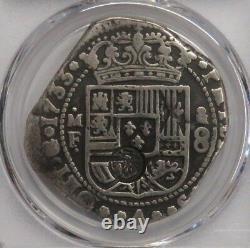 1733 Mexico 8 Real Pcgs Vf20 Klippe Philip V CM Guatemala (1839) Spain Colonial