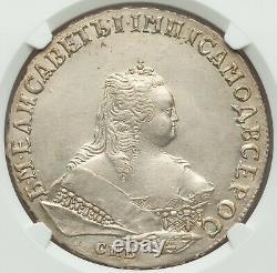 1749 Spb Russia Rouble Elizabeth Ngc Au Details