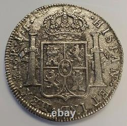 1783 MO FF Mexico 8 Reales Spanish Colonial Silver Coin Carolus III