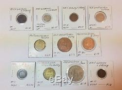 1800s-1900s World Lot of 150 Carded Coins with Silver, many BU-AU