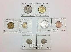1800s-1900s World Lot of 150 Carded Coins with Silver, many BU-AU LOT