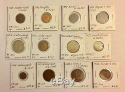 1800s-1900s World Lot of 150 Carded Coins with Silver, many BU-AU LOT#2