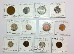 1800s-1900s World Lot of 150 Carded Coins with Silver, many BU-AU LOT#4