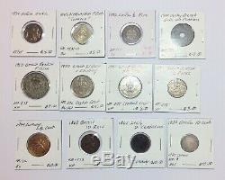 1800s-1900s World Lot of 150 Carded Coins with Silver, many BU-AU LOT#5