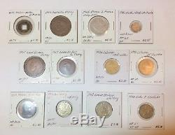 1800s-1900s World Lot of 150 Carded Coins with Silver, many BU-AU Set#2