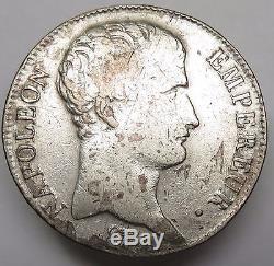 1804 AN 13 COW. 900 SILVER Napoleon I 5 Francs Republic France World Coin #13812