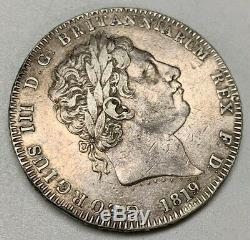 1819 LIX Great Britain Silver Crown EF Extra Fine George III World Coin