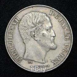 1854 Denmark 1 Rigsdaler World Silver Coin Nice Circulated Coin (cn6087)