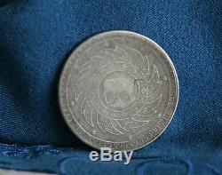 1860 Silver 1 Baht Thailand World Coin Asia Thai King Rama IV Chakra Elephant a