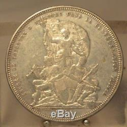1881 Switzerland Silver 5 Francs, Old World Silver Dollar Sized Coin