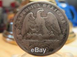 1882 CnD Mexico 50 Centavos VG Rare Date Coin World Money Silver 902,7