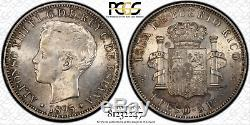 1895-PG V Peso Puerto Rico MS62 PCGS World Coin Silver BIN (SKU. CC)