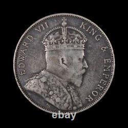1904 Hong Kong 50 Cents Rare World Silver Coin