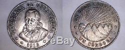 1912-H Nicaragua 1 Cordoba World Silver Coin