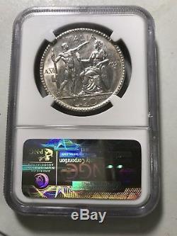 1927R VI Italy 20 Lira world foreign coin NGC AU58 RARE high value