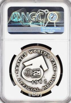 1962 Seattle World's Fair World of Science Silver Medal MS68 NGC Token, Coin