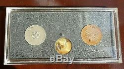 1970 Japan World Medal Expo Osaka Gold 750/Silver 925/Copper Keychains Coin