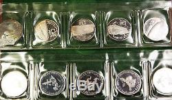 1974 German World Cup 10 Coin Gem Proof Toned Set in Original Case with COA