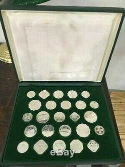 1978 Sterling Silver. 925% Gaming Coins Set Of 25 From Worlds Casinos 17.74 OZ