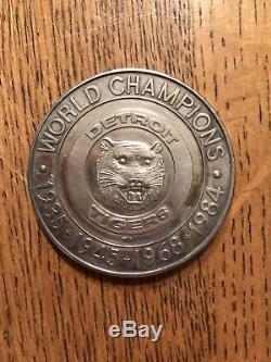 1984 World Series Champs Detroit Tigers. 999 Fine Silver Coin (Ultra Rare Find!)