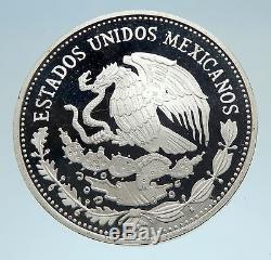 1985 Mo MEXICO FIFA World Cup 86 Football Genuine Silver 50 Peso Coin i74960