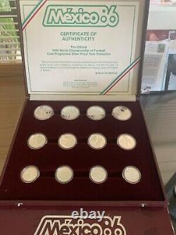 1986 Mexico World Champion of Football. 925 Silver Proof 12 Coin Set