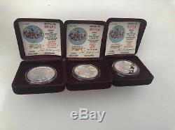 1988 Disney Around the World Rarities Mint 7 Coin. 999 Silver Complete Set