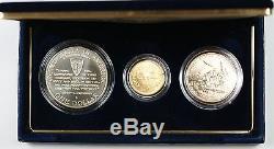 1991 1995 World War II 3 Coin Commemorative BU Set $5 Gold $1 Silver Dollar