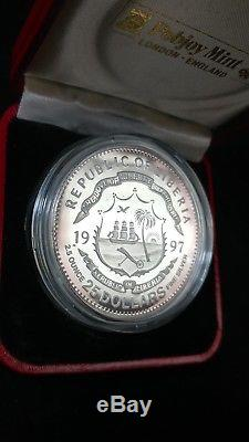 1997 Republic of Liberia $25 25th Anniv. Standard Cat World Coins Proof Silver