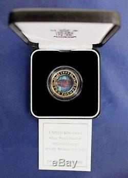 1999 Silver Piedfort Proof £2 coin Rugby World Cup in Case with COA (K7/21)