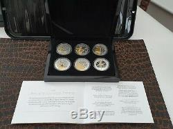 (1 OF ONLY 65 SETS WORLDWIDE)Sapphire Coronation jubilee Silver Proof 6 coin Set
