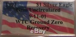 1 Ounce 1993 Silver Eagle World Trade Center Ground Zero Recovery Coin 9-11-01
