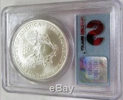 2001 1 of 1440 WTC 911 Silver Eagle PCGS 9/11 World Trade Center Recovery Coin