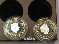 2002 Official Commonwealth Games Silver Piedfort Collection World Coin #18773D