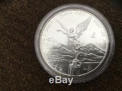 2007 1 Oz. 999 1 coin Silver Mexican Libertad coin-only 200,000 world wide