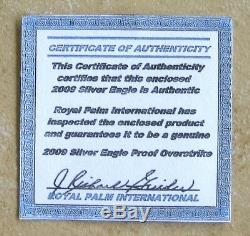 2009 Silver Eagle Proof Thin Type DC Overstrike & Coin World Overstruck Proofed