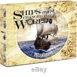2012 Tuvalu 1$ Ships that changed the World Mayflower 1oz Proof Silver Coin