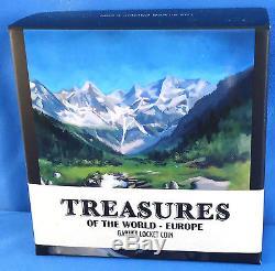 2013 $1 Treasures of the World, Europe 1oz Silver Proof Locket Coin Garnet Gems