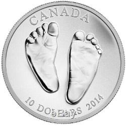 2014 CANADA $10 WELCOME TO THE WORLD Baby Feet pure silver coin w all packaging