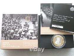 2014 First World War Kitchener Piedfort £2 Two Pound Silver Proof Coin Box Coa