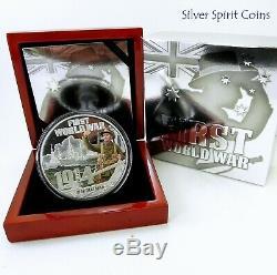2014 WORLD WAR 1 WAR DECLARED 5oz Silver Proof Coin