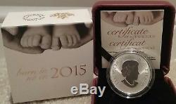 2015 Baby Gift Welcome to the World Pure Silver $10 1/2OZ Coin Canada Baby Feet