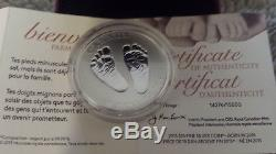 2015 CANADA $10 WELCOME TO THE WORLD Baby Feet. 9999 Silver. 5oz Proof Coin RARE