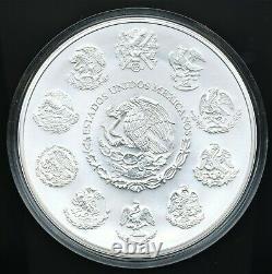 2015 Mexico 1 Kilo. 999 Fine Silver Libertad Uncirculated In Capsule